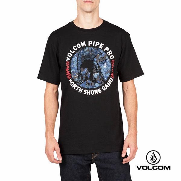 VOLCOM PIPE PRO 公益聯名款 Basic fit 短袖T-Shirt-黑