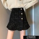 裙子 裙子女裝2020秋冬季新款格子半身裙高腰a字包臀裙荷葉邊魚尾短裙  【全館免運】