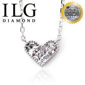 【ILG鑽】頂級八心八箭擬真鑽石項鍊- 永固愛情款-NC123情人生日禮物女友送禮最佳選擇