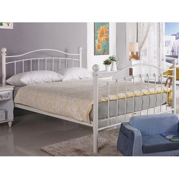 床架 床台 鐵床 AM-377-2 凱特兒5尺白色鐵床床檯 (不含床墊) 【大眾家居舘】