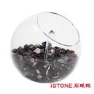 療癒星球 (水晶砂+白水晶柱組) 水晶淨化消磁球 辦公桌景觀擺飾 石頭記