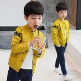 男童外套春秋裝季外套開襟棒球服薄韓版上衣