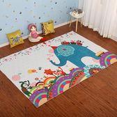 卡通兒童地毯訂製公主寶寶爬行墊兒童房床邊毯客廳臥室益智可機洗   IGO