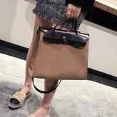 時尚凱莉包2019新款女包復古公文包手提包百搭單肩斜挎包包xy3848【原創風館】