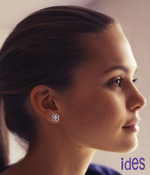 ides愛蒂思  幸運之戀。品牌設計款八心八箭車工鑽石耳環