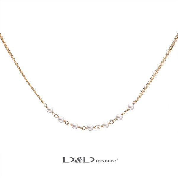 輕奢珠寶系列~ 585K天然珍珠項鍊 ♥