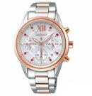 SEIKO 精工 LUKIA 太陽能計時 晶鑽腕錶 SSC824J1_ V175-0EW0G
