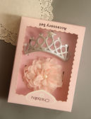 2件組韓國風女童寶寶精美公主皇冠蕾絲花髮帶.頭飾禮盒~EMMA商城