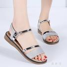 2020夏季新款百搭時尚休閒平底涼鞋 夏季新品羅馬一字扣涼鞋 JX1029『優童屋』