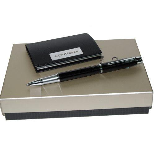 派克IM經典系列黑桿白夾鋼珠筆+磁性皮片夾組*特價促銷優待(筆身可免費刻字)