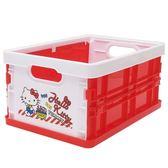 Sanrio HELLO KITTY可折式PP收納箱S(甜蜜購物)★funbox★_46862