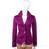 MOSCHINO 紫色滾邊設計雙釦式西裝外套 1310678-04