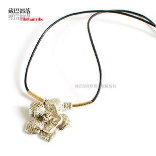 藏飾風格藏銀花民族風情女款項鏈