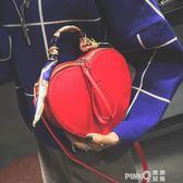 小包包2018新款冬季個性女包紅色結婚新娘包包斜挎包女百搭手提包【PinkQ】