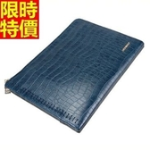 公事包  男手拿包-信封造型新款設計鱷魚紋蛇紋3色2款66e24【巴黎精品】