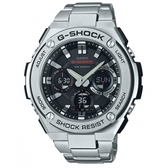 【CASIO】 G-SHOCK 防震分層防護構造雙顯錶-黑面(GST-S110D-1A)