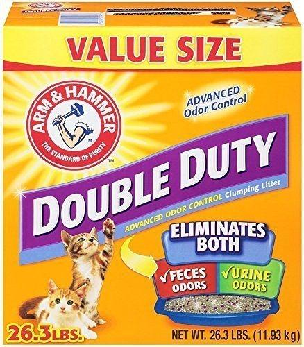『寵喵樂旗艦店』【2盒組免運】鐵鎚Double Duty 雙效加強除臭貓砂26.3磅