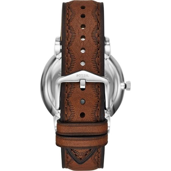FOSSIL NEUTRA 美式印地安老鷹風格手錶-咖啡/44mm FS5543