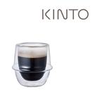 金時代書香咖啡 KINTO KRONOS雙層玻璃咖啡杯80ml KINTO-23104-80