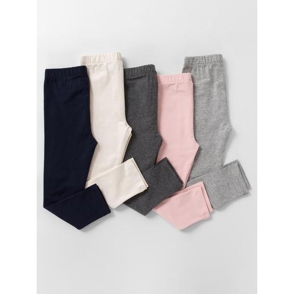 Gap女嬰幼童 精選系列柔軟鬆緊腰內搭褲 兒童窄管長褲 805024-冰粉色