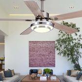 風扇燈影響變頻-星弧不銹鋼葉吊扇燈餐廳燈帶風扇的燈客廳變頻風扇燈美式木葉吊燈Igo 免運