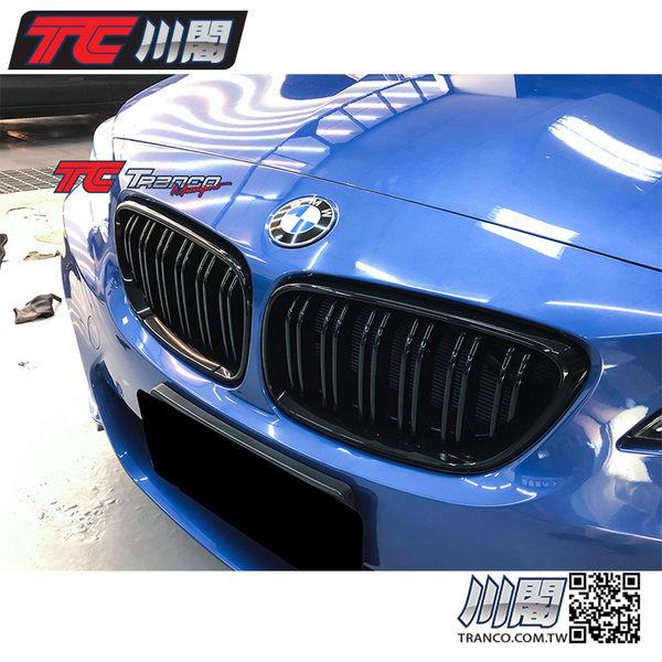 BMW F22 F23 F87 M2 水箱罩 鼻頭 雙槓亮黑 2系列 現貨供應 TRANCO 川閣