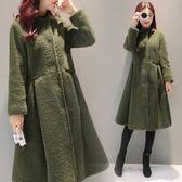 冬季新款韓版中長款仿羊剪絨皮毛一體流行大衣女外套
