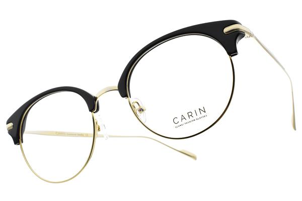 CARIN 光學眼鏡 TAIL-R C1 (金-黑) 韓星秀智代言 質感簡約鏡框 # 金橘眼鏡