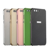 【SZ14】華碩Zenfone4手機殼 電鍍金屬邊框碳纖維紋 ZE554KL全包防摔保護殼