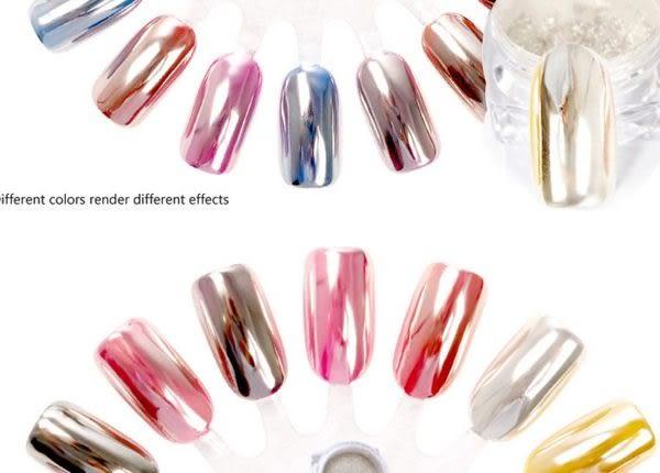 升級版超亮銀色魔鏡粉 玫瑰金魔鏡粉 極光鏡面粉 銀電鍍粉 金屬粉 美甲材料 Nails Mall