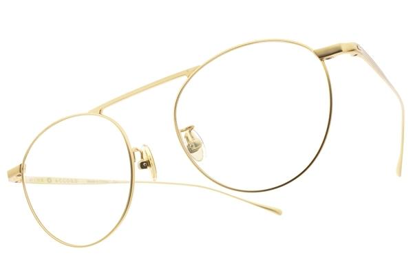 NINE ACCORD 光學眼鏡 TI OVERLAP C4 (霧金 前掛 琥珀-霧金-綠 偏光鏡片) 復古細圓框 附前掛式墨鏡 鈦眼鏡