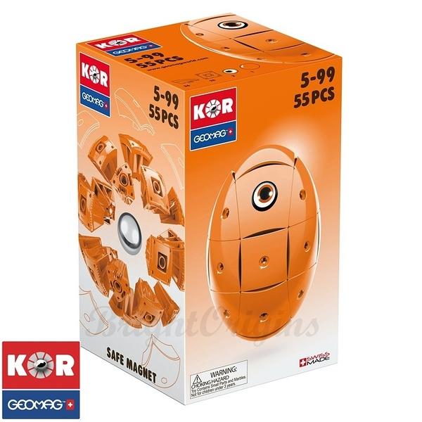 瑞士GEOMAG KOR 磁性變化球-EGG亮橘#671(55pcs)