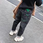 尾牙全館9折 男童褲子長褲2019新款潮冬季兒童加絨牛仔褲小腳休閒加厚冬裝保暖