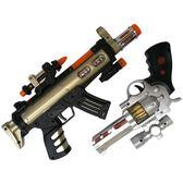 兒童玩具槍聲光男孩投影電動左輪手槍模型寶寶音樂聲音沖鋒機關搶 igo初語生活館