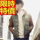 輕羽絨外套 男夾克-韓風經典款立領白鴨絨迷彩拼接2色64l26【巴黎精品】