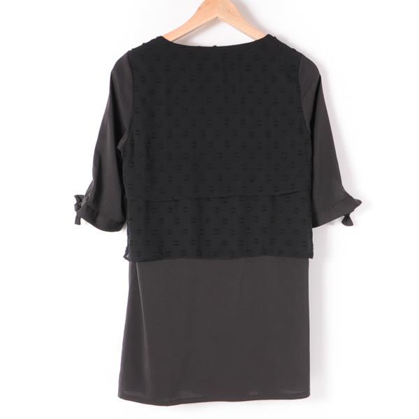 洋裝【MASTINA】多層次造型洋裝-黑 10501