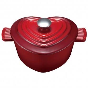 心型琺瑯鑄鐵湯鍋22cm