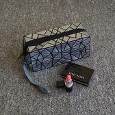 小號便攜時尚簡約專櫃贈品明星同款化妝袋正韓不規則幾何包   提拉米蘇