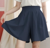 褲裙 休閒短褲女寬鬆高腰超大碼顯瘦寬管褲熱褲夏季薄款大碼褲裙-Ballet朵朵