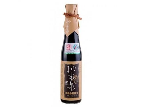 甘寶 桃米泉 有機香菇醬油 410ml/瓶
