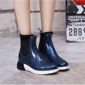 春夏新款增高中筒雨鞋女韓版時尚防滑雨靴