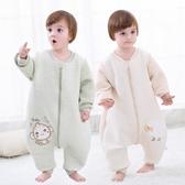 寶寶睡袋0-1-2-3歲男女嬰兒童秋冬季連體衣加棉加厚款分腿防踢被