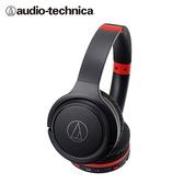 【audio-technica 鐵三角】ATH-S200BT 藍牙耳罩式耳機(黑紅)