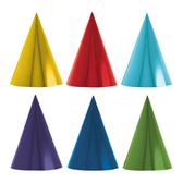 7吋閃亮派對帽12入-彩虹