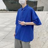 寬松夏季男裝百搭純棉翻領短袖T恤大碼胖子【聚物優品】