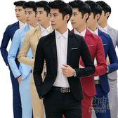 小西裝男修身休閒薄款春季外套單件男士西服上衣青年韓版潮流帥氣 自由角落