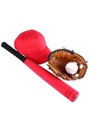 兒童軟體棒球棒棍帽子手套裝幼兒園早操練習表演道具學生壘球