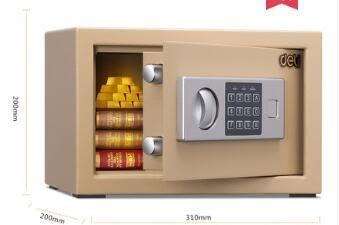 保險櫃家用小型迷妳保險箱辦公指紋密碼鑰匙防盜保管箱床頭櫃igo 西城故事