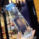 韓國創意水杯塑料簡約學生太空杯時尚情侶韓國女生便攜小清新水杯 Ifashion
