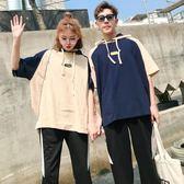 情侶裝 秋季新款韓版寬松短袖t恤氣質學院風女學生班服